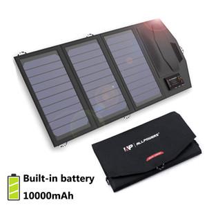 شاحن بطارية شمسية محمول 5v 15W 10000mAh USB نوع-C شاحن لوحة شمسية محمول الهواء الطلق لوحة شمسية قابلة للطي