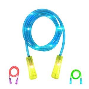 2.5M Kinder Spielzeug Fitness Bodybuilding Übung Bunte Wechsel LED-Blitzen leuchten Glow Skipping Jump Rope Skipping Springseil