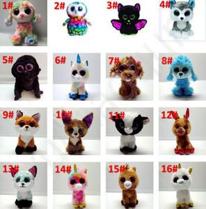73 estilos Ty Beanie Boos peluche juguetes de peluche 15cm al por mayor grande ojos de los animales suave muñecas para los regalos para niños ty Juguetes de los ojos grandes felpa rellena BY1328