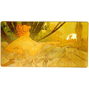 Modern art aawn Alphonse Mucha figure Oil painting Romantic woman picture for living room decor