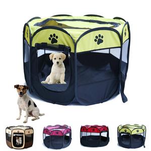Cat Dog Pet Playpen Tent Exercício portátil Cerca Kennel gaiola macio Crate Casa