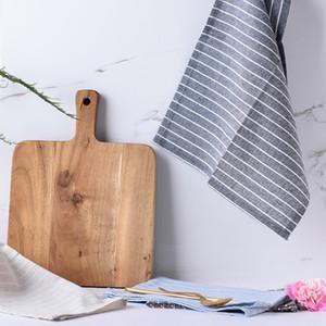 5 stücke Japanischen streifen baumwolle tischset, serviette baumwolle tischdecke tischdecke küchengeschirrtuch tuch doppelschicht 30 * 40 cm