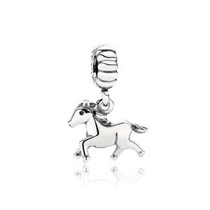 NEW 100% 925 Sterling Silver 1:1 791099 Horse Free Spirit Dangle Original Women Wedding Fashion Jewelry Gift