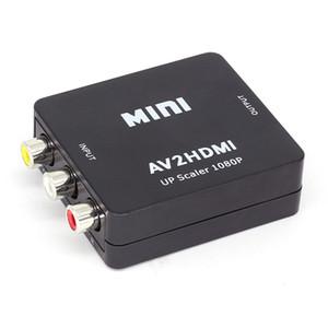 Mini AV para HDMI Conversor de Vídeo AV2HDMI RCA AV HDMI CVBS para HDMI Adaptador para TV HDTV PS3 PS4 PC DVD Xbox Projetor
