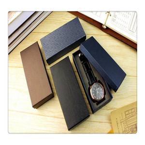 1 Pcs Wristwatch Packing Box Black Carton Box For Watch Not Including Wristwatch Beautiful And Fashion