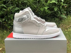 2020 Top 1 High OG Japan 2001 2020 CO.JP Basketball-Schuhe Neutral Grau Weiß Metallic Silber 1S Sport Sportschuh 40-47