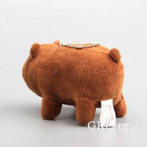 Wholesale 10pcs or 1pc Polar Bear Panda Brown Bear Plush Toys Doll Peluche 12cm Kawaii Keychain Pendant Women Kids Party Gift