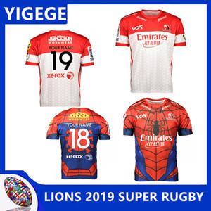 LIONS 2019 SÜPER RUGBY EV JERSEY 2019 Yeni Zelanda Süper Rugby Golden Lions RUBGY JERSEYLER süper lider JERSEYS boyut S-3XL (yazdırabilirsiniz)