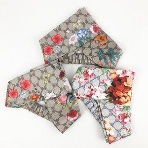 High-end fashion silk satin ladies butterfly dragonfly flower print cross head band hair band European and American 44