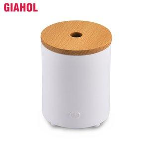 Ultraschall-Aroma Diffuser Essential Oil Diffuser Holzmaserung Elektro-Nebel-Hersteller am besten für Start Auto Weiß