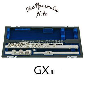 Muramatsu GX-III di alta qualità C Tune 16 tasti fori aperti flauto d'argento placcato New Musical Instrument I Legenda Flauto con il caso di trasporto