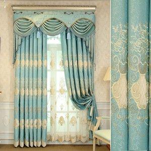 Настраиваемая новая мода китайский стиль ткань искусство вышитые плотные шторы роскошные оконные шторы для гостиной спальни