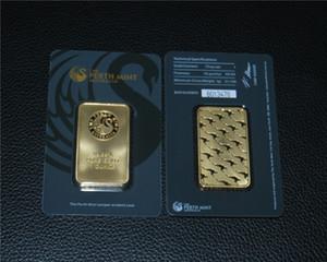 1 oz schwarz plattiert 24k gold bar bullion hohe qualität nicht magnetische unabhängige serielle nummern versiegelte paket collectibles geschenke handwerk