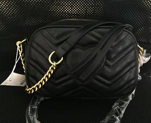 En yüksek kalite Marmont omuz çantaları kadınların altın zincir crossbody çanta çanta ünlü çanta yüksek kaliteli kadın mesaj torba # M6601903