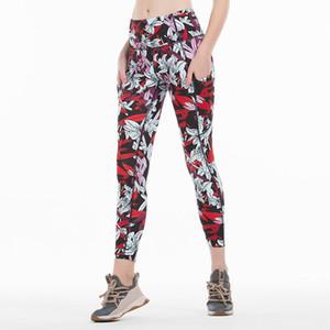 Imprimir calças Yoga Mulheres Único de Fitness Leggings Sports treino de corrida Leggings Sexy Push Up Gym Wear elásticas magros Calças