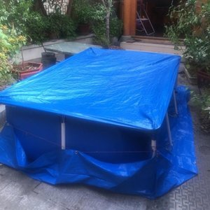 Abdeckung Regendicht Staubschutz Wasserdichte Tarp rechteckigen Pool Frame Pool Family Garden
