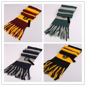 Foulards Harry Potter écharpe cosplay costume série coton de haute qualité Echarpes mignon Wraps Badge personnalité tricot Echarpes Tassel