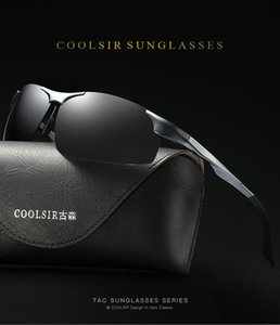 2020 wholesale frameless sports polarized sunglasses for Man Male brightening day and night dual-use night vision polarized driving sunglass