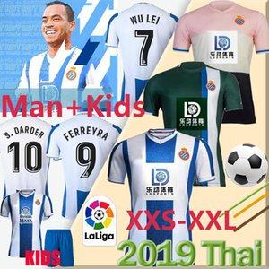 RCD Espanyol R.D.T futbol forması 19 20 WU LEI Ferreyra S.DARDER formaları İspanya LA liga adam + çocuklar Camiseta de Fútbol Üniformalar