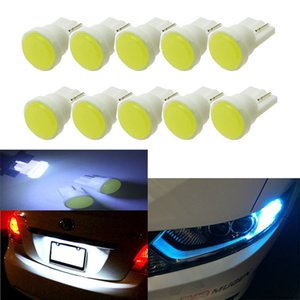 100pcs Ceramic Car Interior LED T10 COB W5W 168 Wedge Door Instrument Side Bulb Lamp Car Light White Blue Green Red Yellow Source