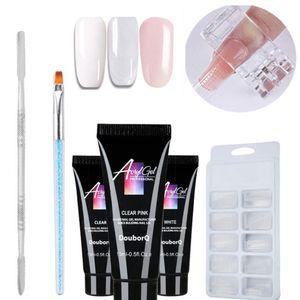 5 pcs poli gel kit semi permanente extensão rápida fácil aplicar cristal geléia manicure nail art art acrílico construtor diy verniz uv bom