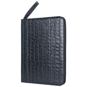 Grande capacità in pelle Fontana cassa dell'unità di elaborazione della penna di colore nero 48 slot Pen Pouch Bag Pencil