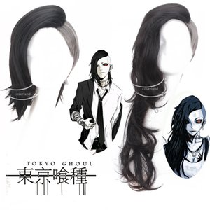 Tokyo Ghoul 2 Long Wig Cosplay Ken Haise Sasaki Kaneki Women Men Short Anime Wig Cosplay Props Blinder Fancy Ball Accessory Hlrcj