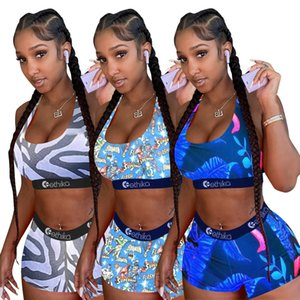 3 Farbe Ethika Frauen Designer Bademode Sport-BH + Shorts Trunk 2 Stück Marke Anzug Quick Dry Bademode Bikini Set DHL