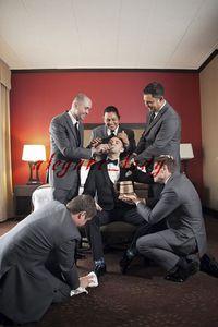 Boho Groom and Groomsmen Grey Wedding Tuxedos Suit Plus Size Jacket Pant Custom Make Men's Occasion Prom Party Dinner Wedding Suit