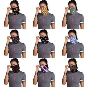 2020 Designer im Freien Fahrrad Radfahren Gesichtsmaske Bandanas Luxus Schal Stirnband Halstuch Waschbare Cap Sport Kopftuch halbe Gesichtsmaske