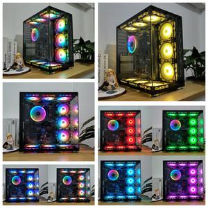 PC 케이스 Syscooling 물 냉각 팬 120 * 120mm RGB 팬 유압 베어링 조용 냉각 팬