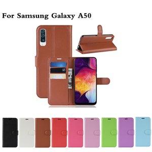 Litchi Pattern Flip PU кожаный кошелек телефона чехол для Samsung Galaxy A20 / A30 / A50 Lychee зерна