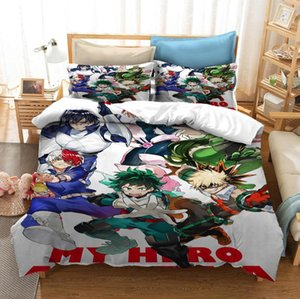 Japan Anime My Hero Academia 3D Printed Bedding Set Duvet Covers Pillowcases Comforter Bedding Set Bedclothes Bed Linen 08