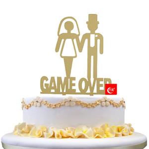 TX Juego encima del partido de la torta, boda Negro para el partido de gallina de Bachelorette Decoración