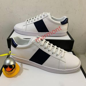 xshfbcl Top Quality Stripe New Designer Shoes White Bees ACE Embroidered Mens & Women Genuine Leather Designer Sneaker red bottom Casual
