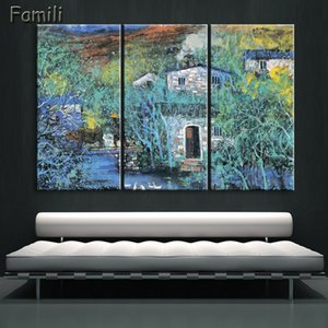 3Panel Landscape Mountain Chinese canvas painting Wall canvas art painting for living room decoration NO Frame
