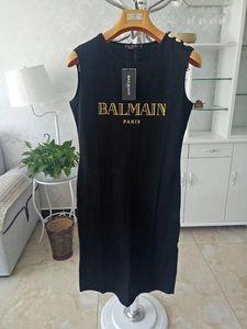 2020 Balmain Robes simples 100% des vêtements décontractés durables pour les femmes T-shirt Shirt Taille S M L