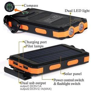 20000 solar power bank, three anti double headlights, 20000mAh, solar charger Solar mobile power supply