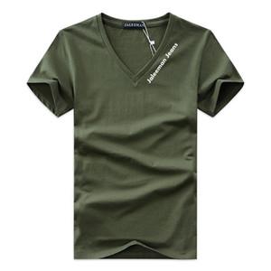 Özel Teklif erkek T-Shirt V Yaka Artı Boyutu S-5xl T Gömlek Erkekler Yaz Kısa Kollu Gömlek Marka Tee Adam Elbise Camiseta
