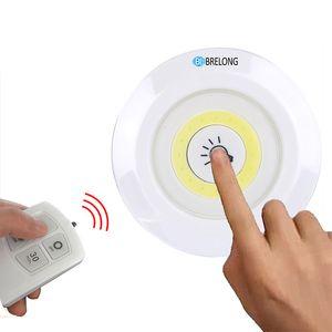 BRELONG LED Luz del gabinete Luz nocturna Control remoto Lámpara de pared para interiores regulable Blanco Adecuado para maletero, pasillo, armario