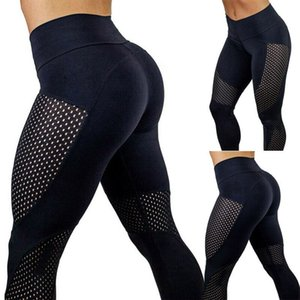 Black Women yoga pants High Waist Sports Gym Compression Leggings Elastic Fitness Lady Overall Full Tights Workout pants