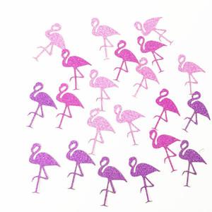 Flamingo Confetti Party Hawaiian 2019 Confetti 3 colores Fiesta de cumpleaños Fiesta Tropical Glitter Paper Flamingos Decoración