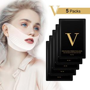 V Linha Máscara 4d cara de elevação Máscara Miracle em forma de V emagrecimento dupla máscara Chin Redutor Elevador remendo V Forma face da ferramenta de endurecimento
