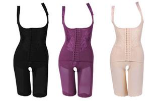 De alta calidad de las mujeres de nylon delgado corsé trajes para adelgazar Body Shaper Carbón esculpir la ropa interior 5 Tamaño adelgazar la ropa interior