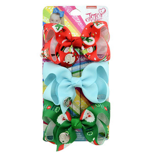 Рождество Jojo Siwa девушки заколки для волос Jojo Siwa луки детские BB клипы детские заколки для девочек заколки для волос аксессуары для волос A7986