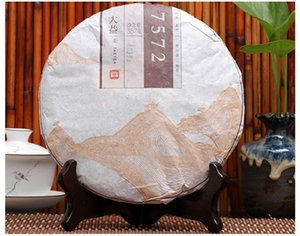 ventas calientes 357g de Yunnan de China Dayi Classic 7572 Maduro Puer torta del té de Puer Menghai orgánica fermentada Puer cocido Puerh
