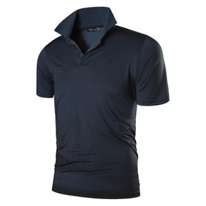 jeansian T homme Sport Chemises Polos Poloshirts Golf Tennis Badminton manches courtes LSL195 Gray2