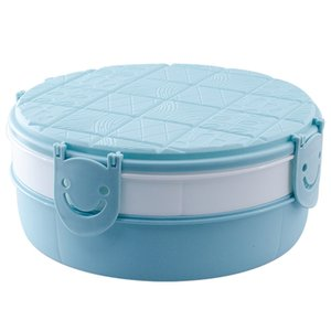 Household Living Room Double-Layer Snack Plate Fruit Dish Dessert Dish Fruit Snack Plate Simple Round Food Storage Container Box