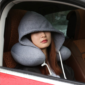 바디 목 베개 솔리드 낮잠면 입자 베개 소프트 후드 U - 모양의 베개 비행기 자동차 여행 베개 홈 섬유 XD22655