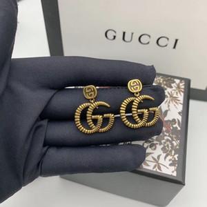 2020 G G design de luxe femmes bijoux boucles d'oreilles pour designer partie perles suspendus boucles d'oreilles Earings designer GOLD vente chaude